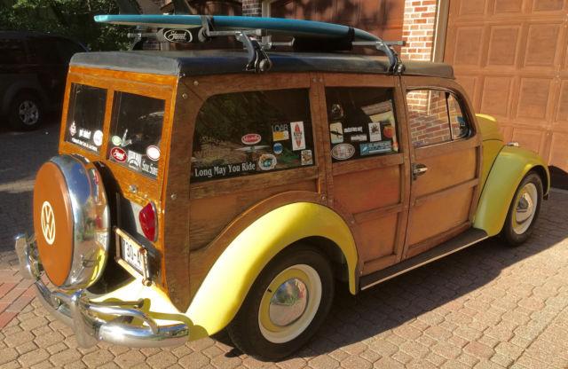 vw beetle woodie wagon woody vwoodie classic volkswagen beetle classic   sale