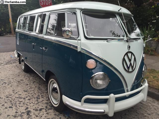 vw bus deluxe show condition fully restored classic volkswagen busvanagon   sale