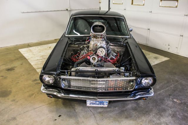 Blown Fastback Mustang Supercharged Big Block Pro Tourpro Street on 1966 Mustang Vin Location