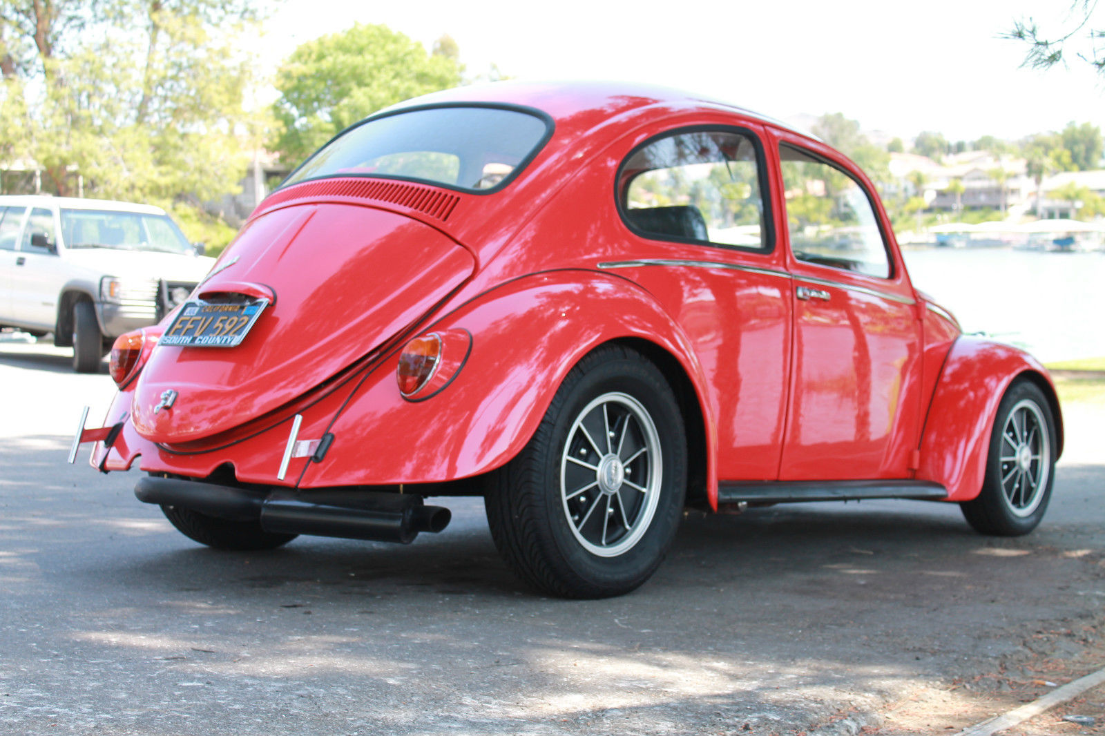 Cal Look Bug on Car Gas Exhausts