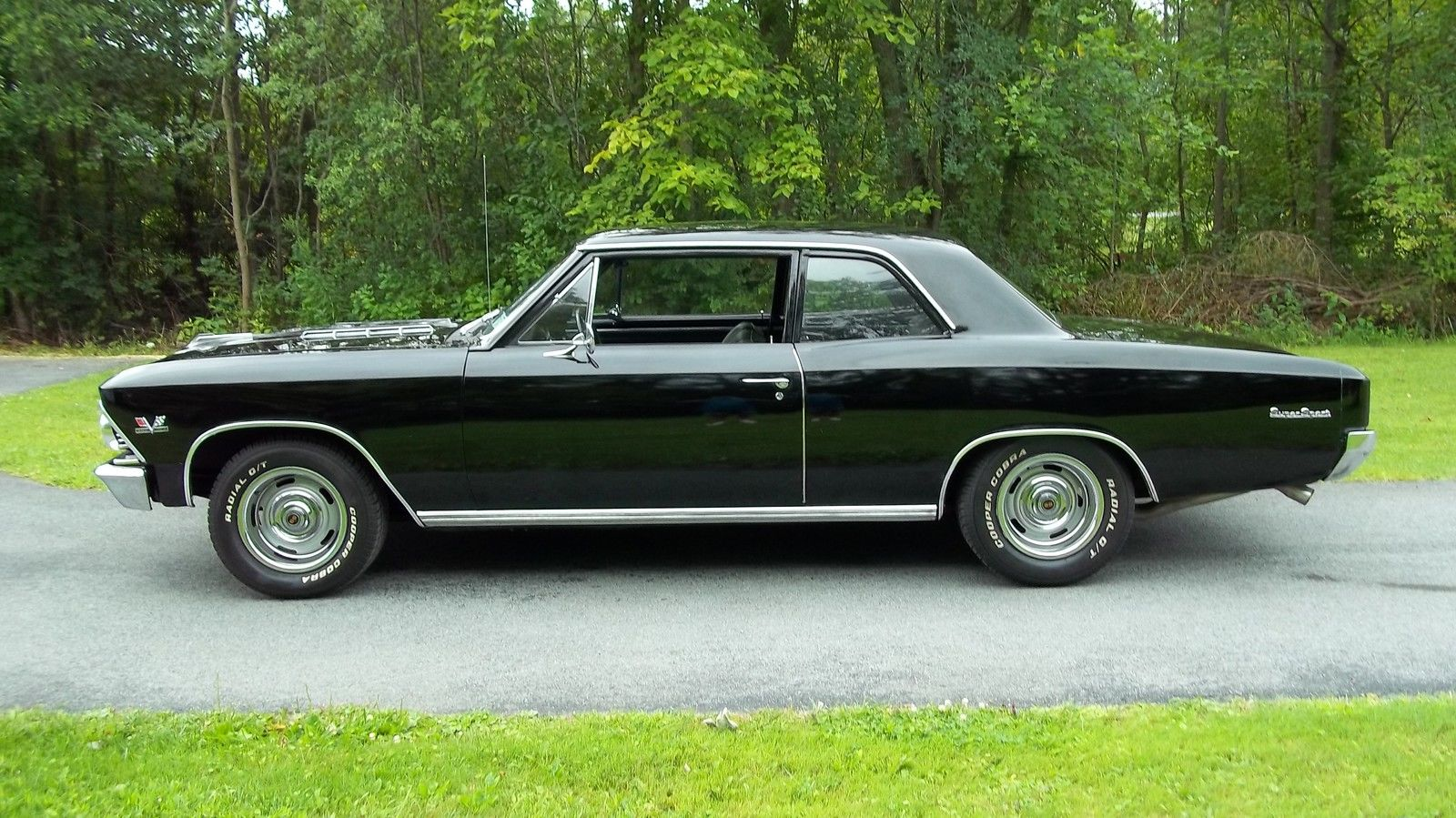 1966 Chevelle Ss Bb 454 Four Speed Black Beautiful Tribute Chevrolet 396 Ss396