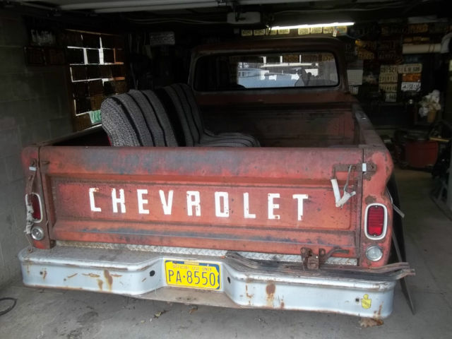 1966 Chevrolet C 20 Custom Camper Chevy Truck Project Lot Of NICE PARTS