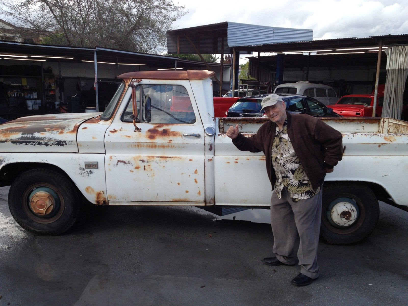 1966 Chevy C 20 Truck 4 Speed V8 No Reserve Survivor Old Man Not Chevrolet Pickup 10