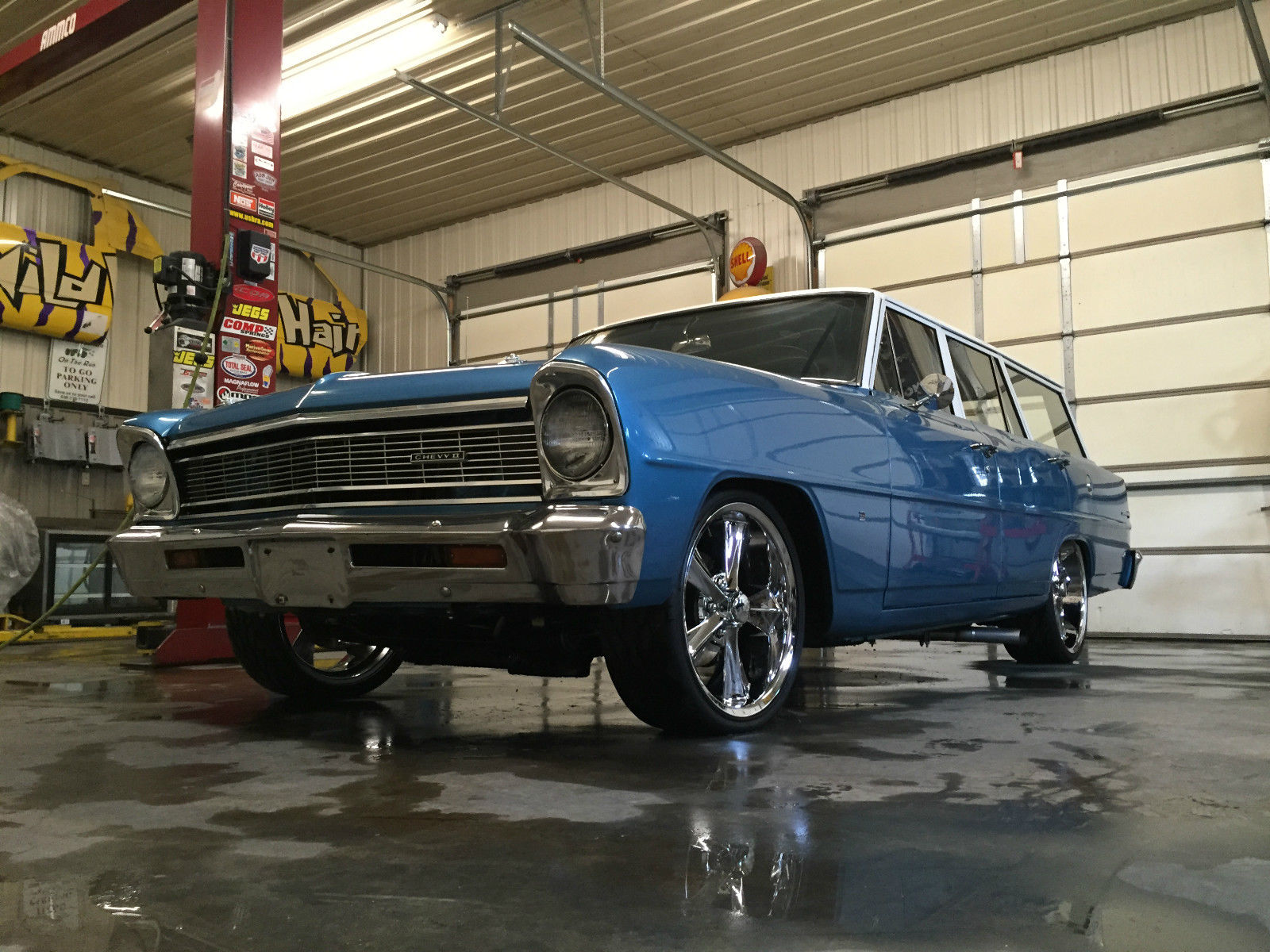 1966 Chevy Ii Nova Wagon Hot Rod Vintage Air Fresh Restoration Chevrolet