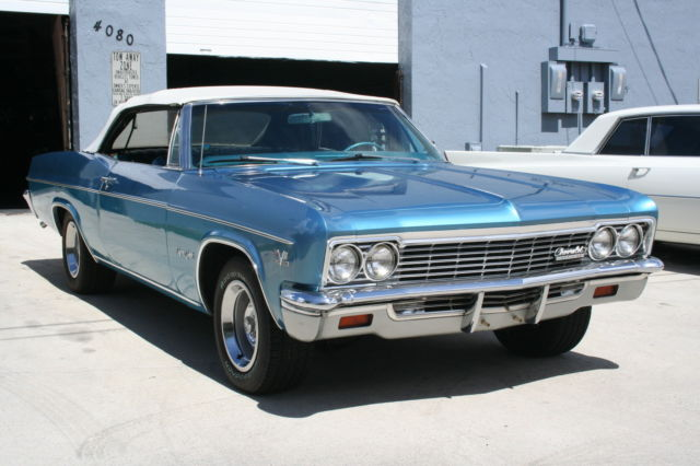 1966 Chevy Impala Ss Convertible 396 325hp Original Motor