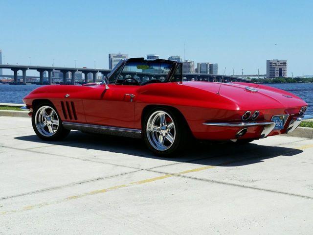 1966 corvette convertible resto rod 500 hp classic chevrolet corvette 1966 for sale. Black Bedroom Furniture Sets. Home Design Ideas