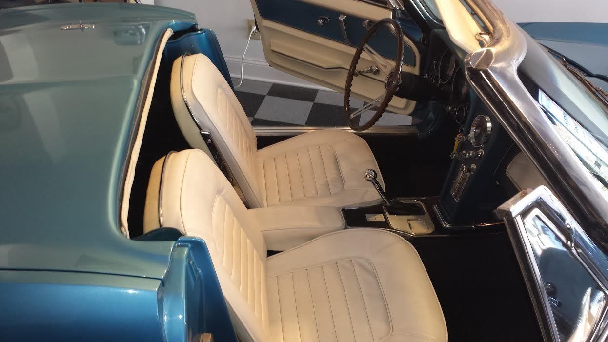 1966 corvette roadster nassau blue white interior classic chevrolet corvette 1966 for sale. Black Bedroom Furniture Sets. Home Design Ideas