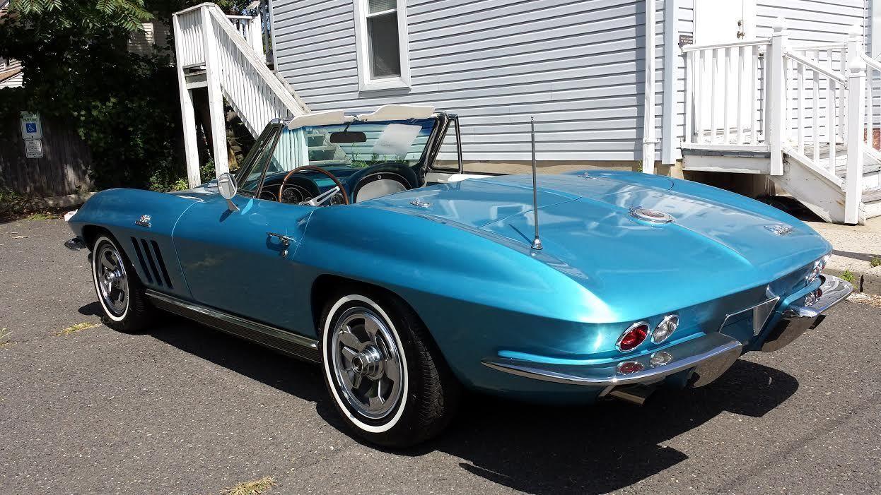 1966 Corvette Roadster Nassau Blue/ white interior ...