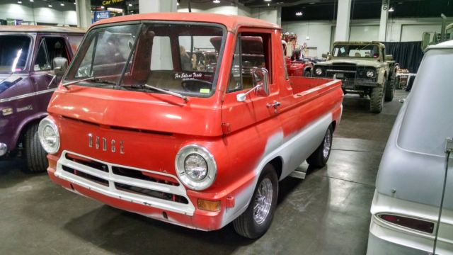 Cavalcade Of Customs >> 1966 DODGE A100 PICKUP TRUCK--LITTLE RED WAGON--RARE FIND ...
