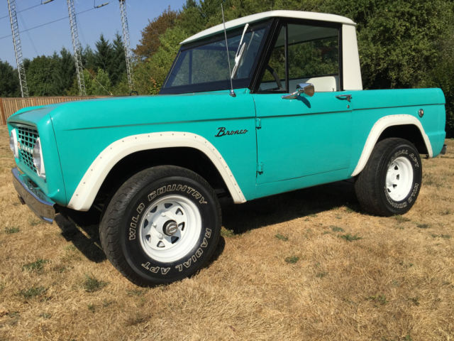 1966 ford bronco half cab pickup 4x4 very nice conditioning miles 23 927 classic ford bronco. Black Bedroom Furniture Sets. Home Design Ideas