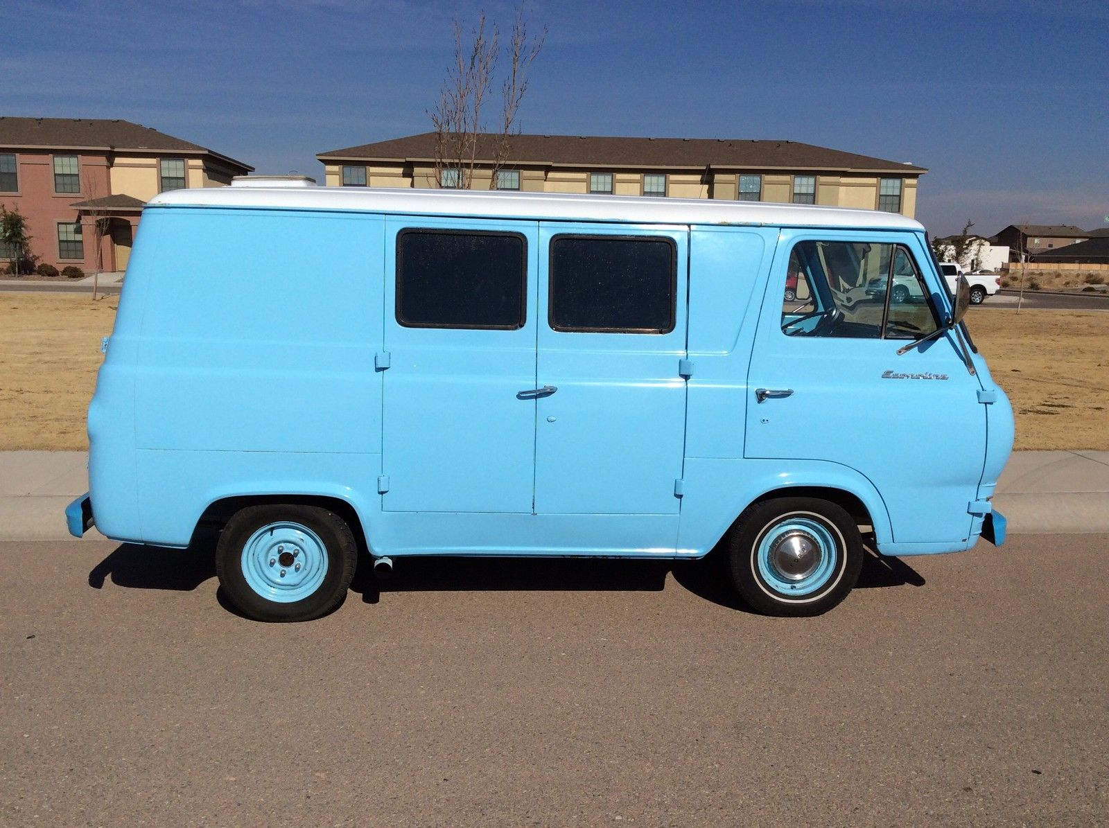 1966 ford econoline blue van classic ford other 1966 for sale. Black Bedroom Furniture Sets. Home Design Ideas