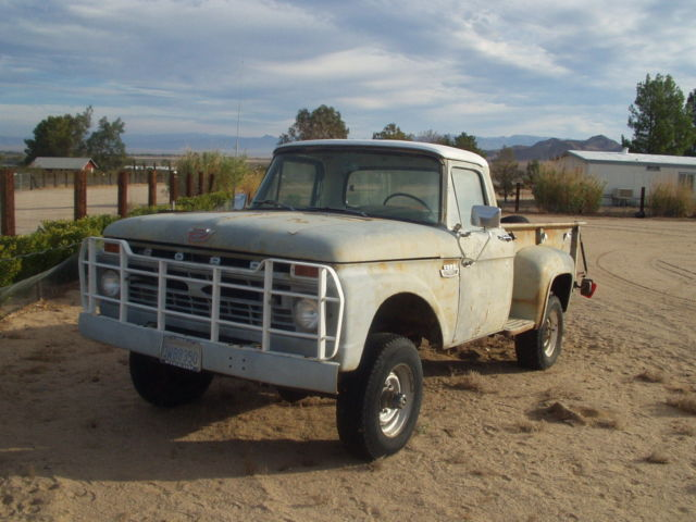 1966 Ford F 250 4 Wheel Drive Step Side Long Bed Classic