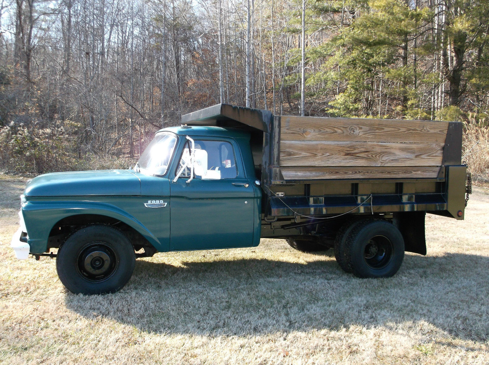 Ford Truck Power Take Off : Ford f custom dump bed with power take off very