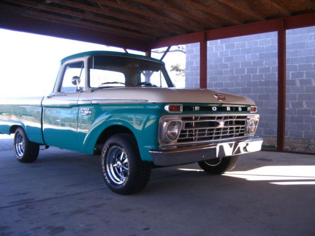 1966 Ford F100 Custom Cab Short Bed Pickup Truck Classic