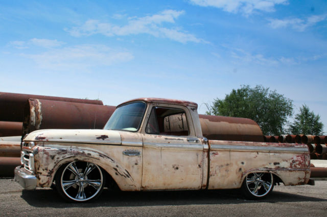 Ford Power Steering Pump 1966 FORD F100 PATINA SHOP TRUCK LOWERED CUSTOM HOT STREET ...