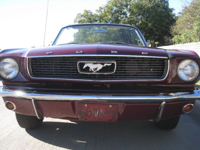 1966 Ford Mustang Convertible 289 V8 Auto W Pony Interior Powersteering Classic Ford