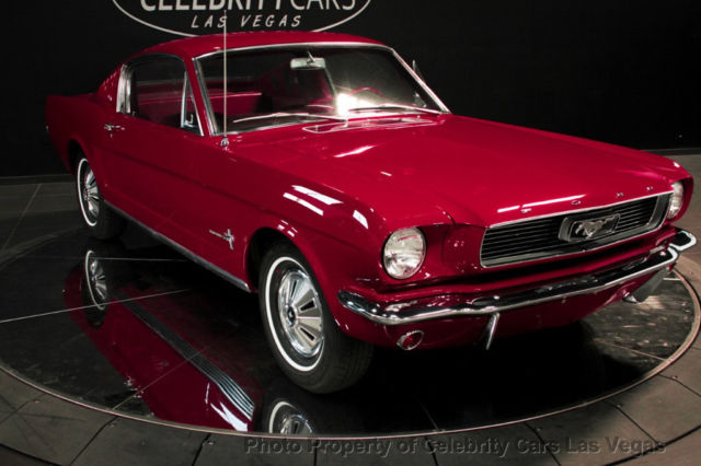 1966 ford mustang fastback v6 low miles 2 dr coupe red las vegas classic ford mustang 1966 for. Black Bedroom Furniture Sets. Home Design Ideas