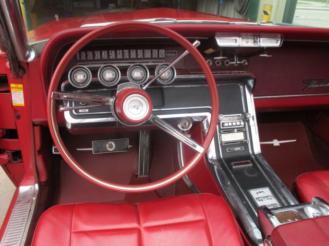 1966 Ford Thunderbird Convertible Candy Apple Red With