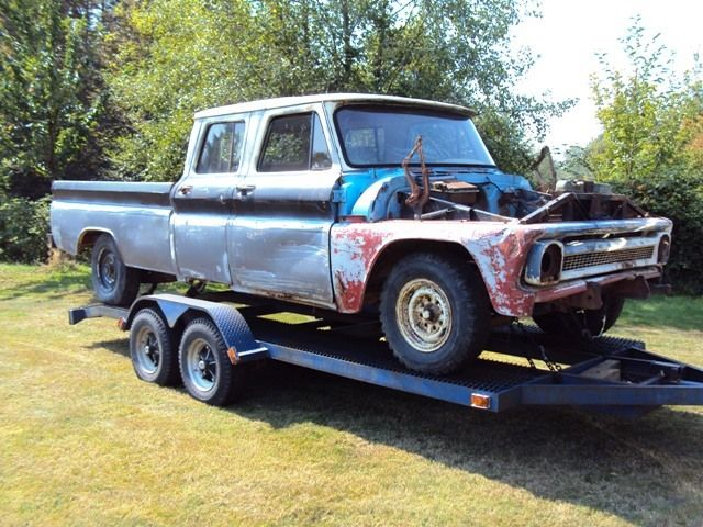 1966 Gmc Chevrolet Crew Cab Pickup 1964 1965 rat rod shop truck not ...