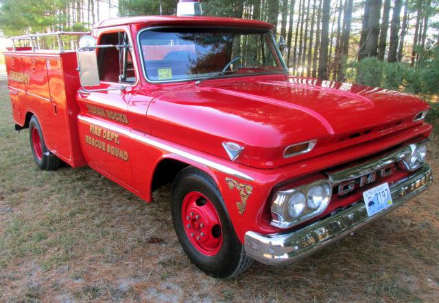 1966 gmc rescue squad fire truck 20 000 original miles c2500 firetruck utility classic gmc. Black Bedroom Furniture Sets. Home Design Ideas
