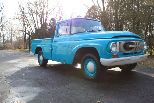 1966 International D 1100 Pickup Truck Blue Classic