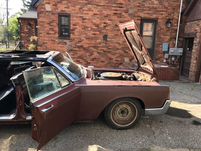 1966 lincoln continental convertible for parts or project. Black Bedroom Furniture Sets. Home Design Ideas