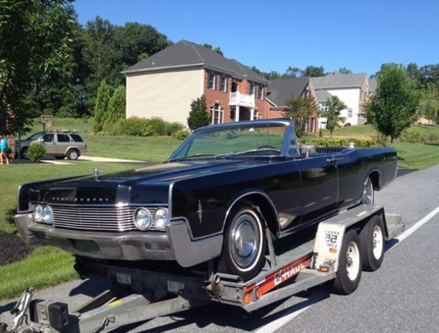 1966 lincoln continental convertible with air ride classic lincoln continental 1966 for sale. Black Bedroom Furniture Sets. Home Design Ideas