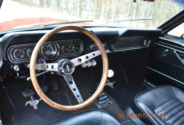 1966 mustang coupe 289 4spd very nice black interior beautiful candy apple red classic ford. Black Bedroom Furniture Sets. Home Design Ideas