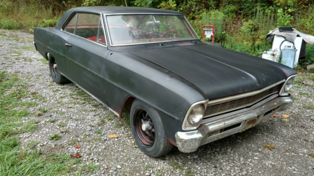 1966 Nova 2 Door Hardtop Project Car - Classic Chevrolet ...