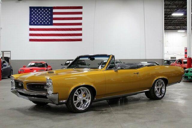 1966 Pontiac Lemans Convertible 78126 Miles Gold