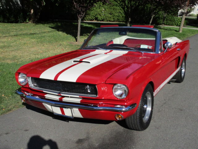 1966 Shelby Gt350 Convertible 289 V8 Red Garaged Super Clean 1968 Mustang