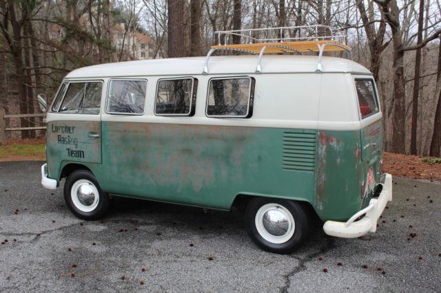 1966 VW 11 Window microbus Split Bus Patina Survivor original Paint 1600cc logo - Classic ...