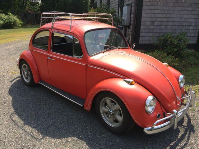 1966 vw beetle satin orange old skool pinstripes classic volkswagen beetle classic 1966. Black Bedroom Furniture Sets. Home Design Ideas