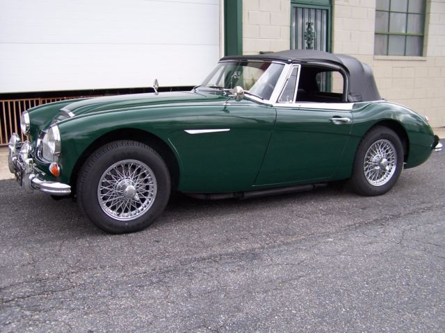 1967 austin healey 3000 mkiii bj8 brg with chrome wires. Black Bedroom Furniture Sets. Home Design Ideas