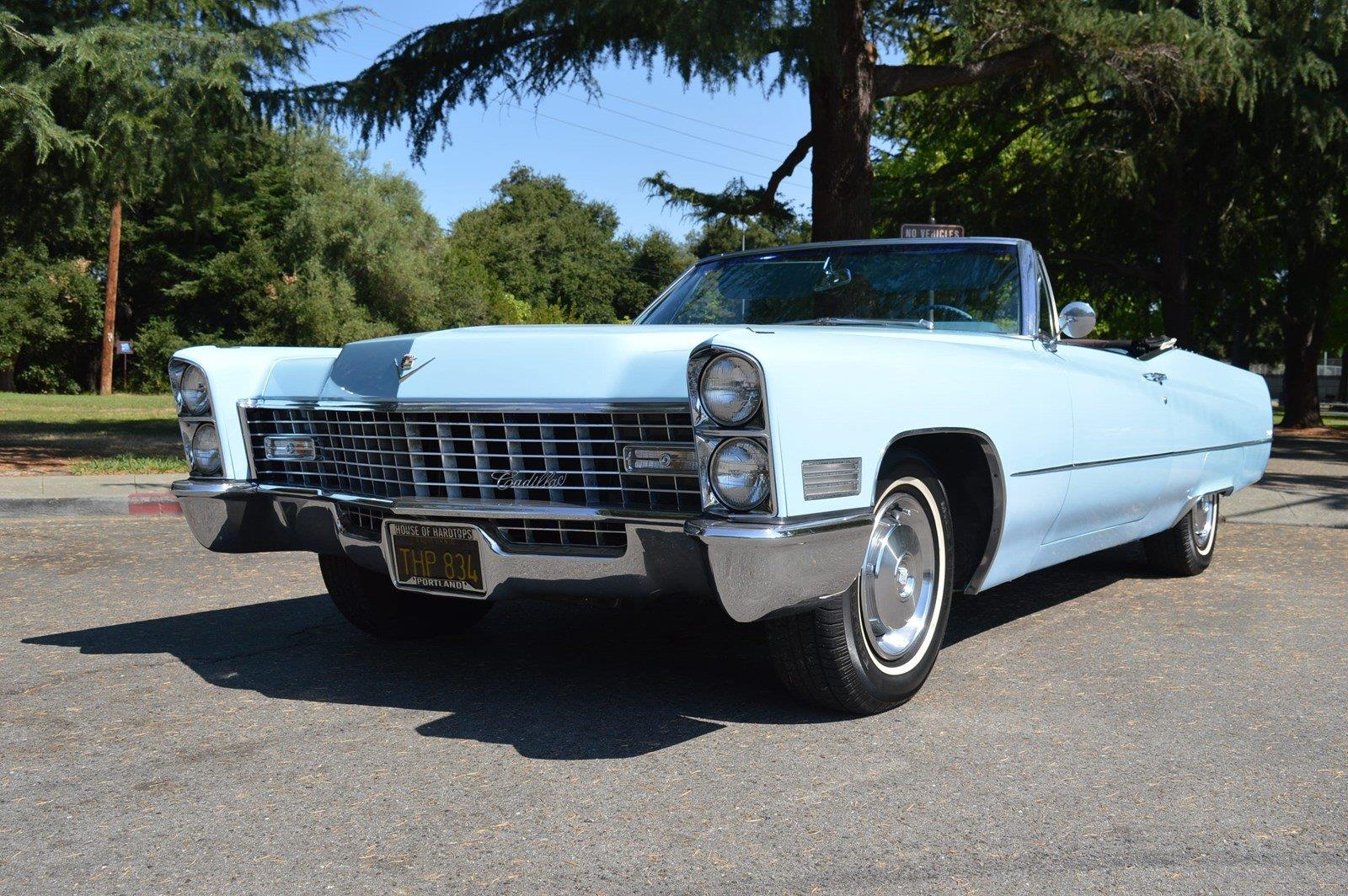 1967 cadillac deville convertible venetian blue automatic. Black Bedroom Furniture Sets. Home Design Ideas