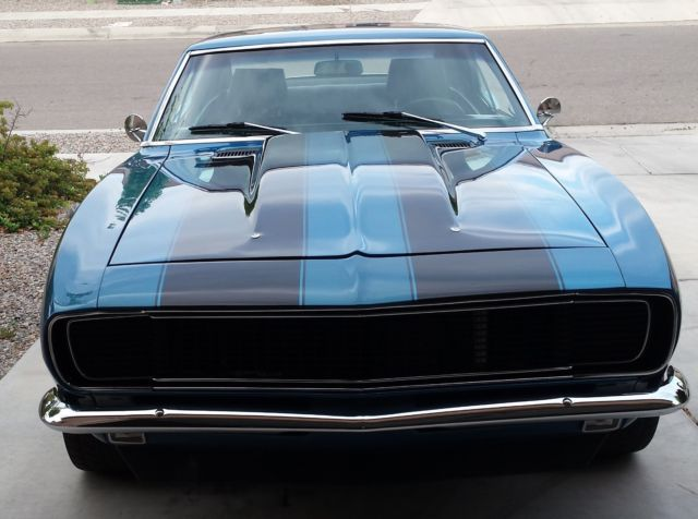 1967 Chevrolet Camaro Rs Blue With Black Racing Stripes Classic