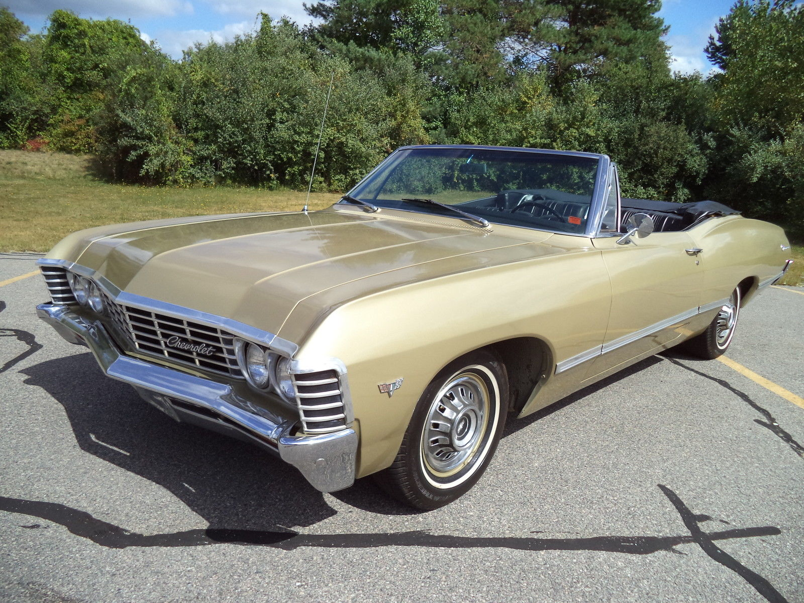 1967 chevrolet impala convert same owner for 25 years gold ext with black int classic. Black Bedroom Furniture Sets. Home Design Ideas