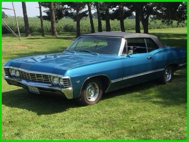 1967 Chevrolet Impala Convertible 283ci V8 Gas Engine 3