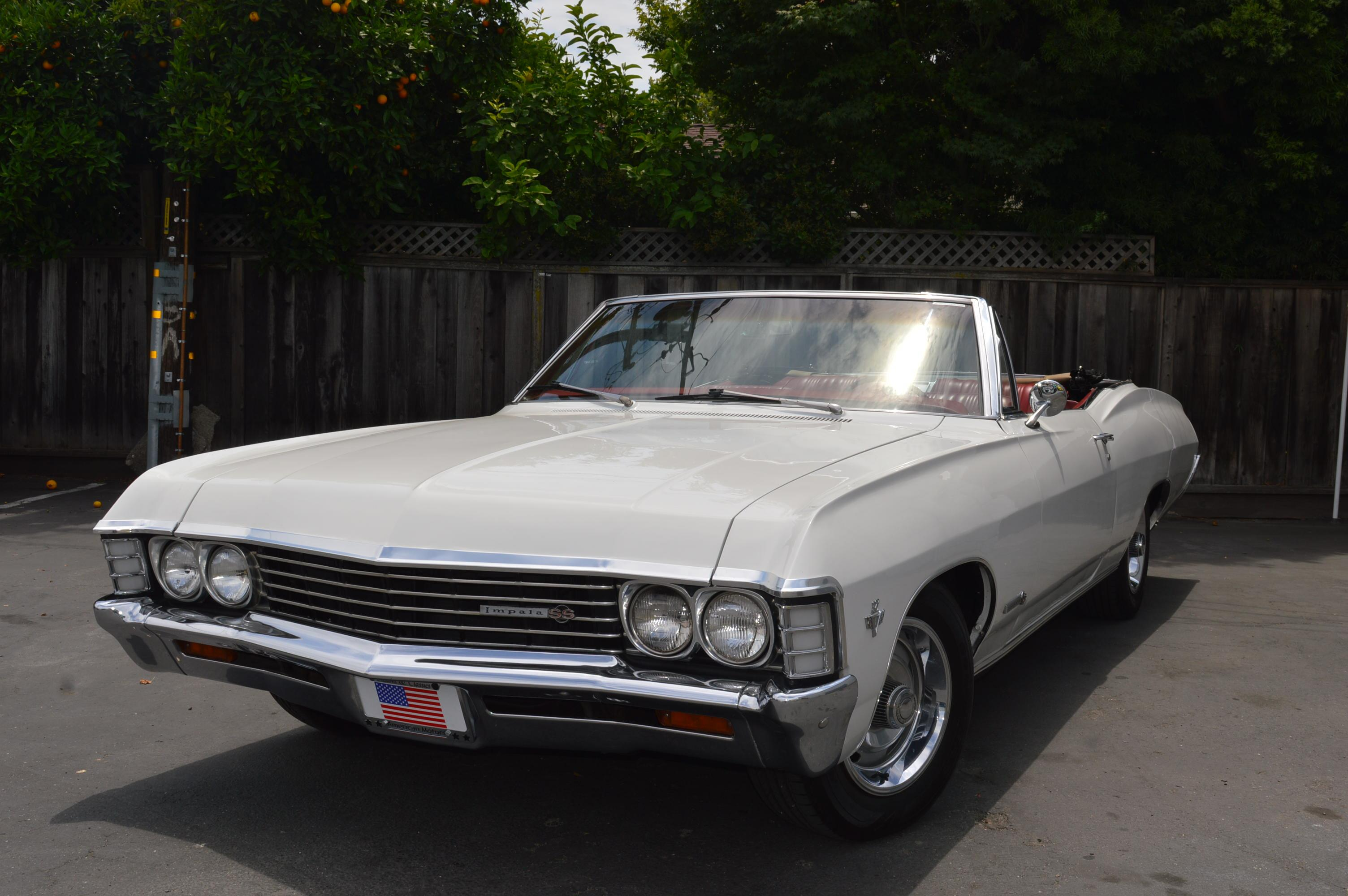 1967 chevrolet impala convertible ss ss frame off restored ac pw ermine white co classic. Black Bedroom Furniture Sets. Home Design Ideas