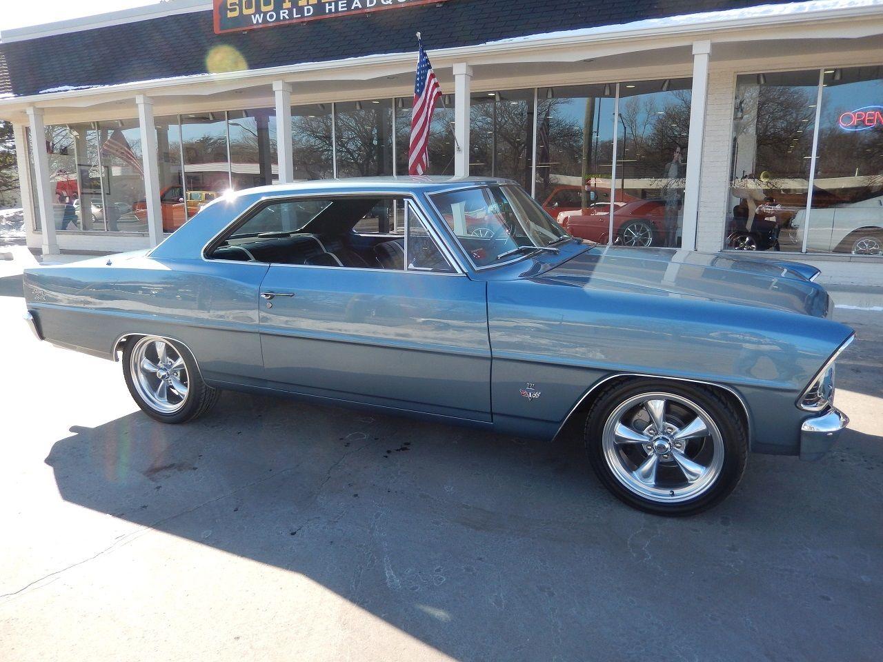 1967 Chevrolet Nova Ss Seel Blue 327 700r4 Disc Brakes