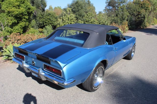 1967 chevy camaro convertible rs 327 marina blue california car video 1968 1969 classic. Black Bedroom Furniture Sets. Home Design Ideas