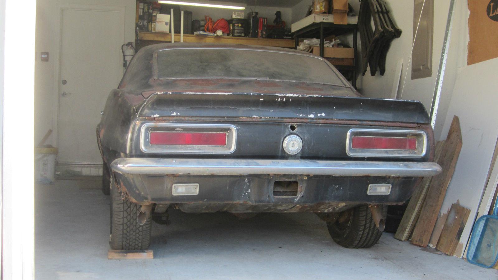 1967 Chevy Camaro Rs Ss 350 Original Black Project Car 1968