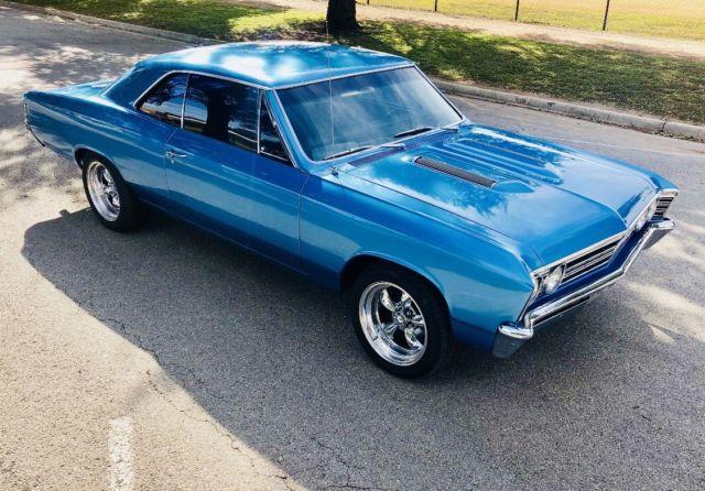1967 Chevy Chevelle Malibu Marina Blue Full Frame Off