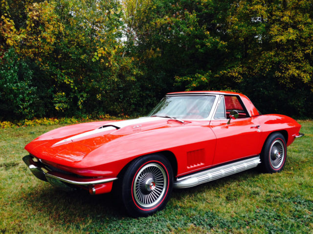 82372 1967 Corvette 427 L88 430hp Red Red Convertible M22 Radio Heater Delete 2 Tops on tube radio restoration