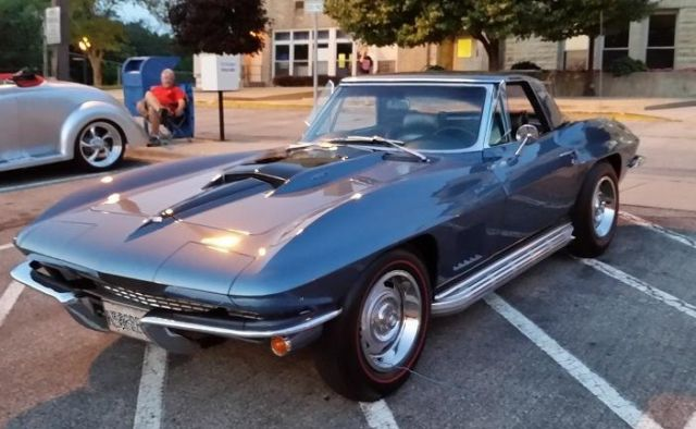 1967 corvette conv 427 lynndale blue classic chevrolet corvette 1967 for sale. Black Bedroom Furniture Sets. Home Design Ideas