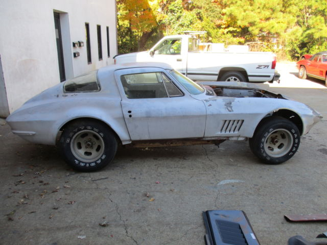 1967 corvette sport coupe ex 435 4 speed project car side exhaust power brakes classic. Black Bedroom Furniture Sets. Home Design Ideas