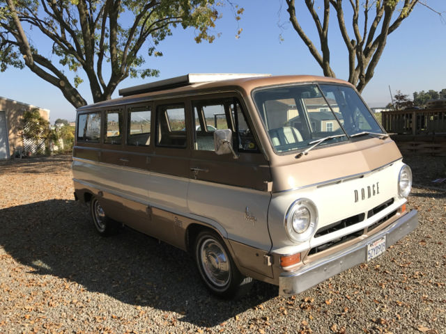 0b7e215ef9e3ed 1967 Dodge A100 Camper Van 61k original mi no rust delux model 108 wheel  base