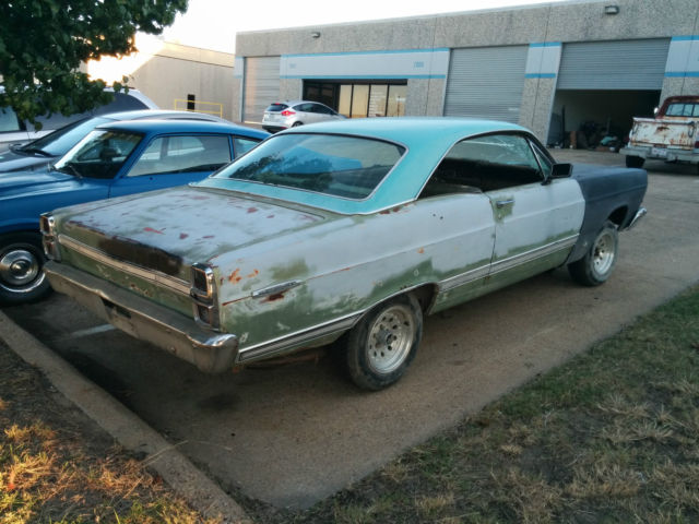 1967 fairlane 500 roller great project car classic ford fairlane 1967 for sale. Black Bedroom Furniture Sets. Home Design Ideas