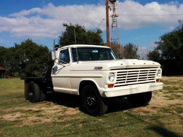 1967 Ford F350 Dually Flat Bed With Braden Winch Lots Of