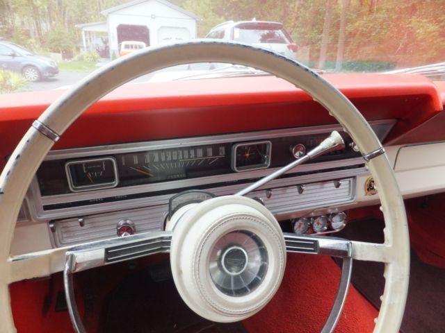 1967 Ford Fairlane Convertible 390 Car Rare White 1966